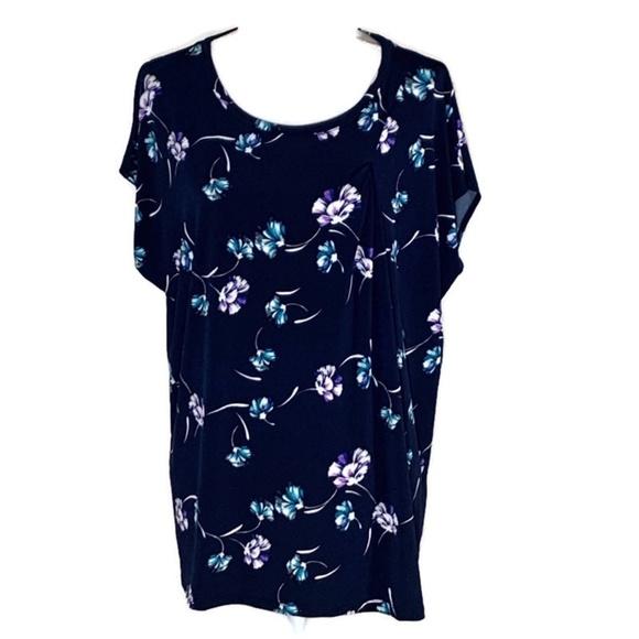 Banana Republic Tops - Banana Republic floral print blouse stretch XXL